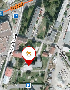 Mapa MŠ Myslbekova 4, Náchod