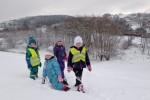 Počasí nám přálo, takže jsme se  mohli věnovat naplno zimním radovánkám